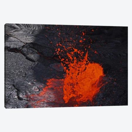 Erta Ale Fountaining Lava Lake, Danakil Depression, Ethiopia IV 3-Piece Canvas #TRK1777} by Martin Rietze Canvas Art Print