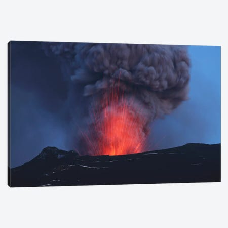 Eyjafjallajökull Eruption, Iceland Canvas Print #TRK1780} by Martin Rietze Canvas Art Print