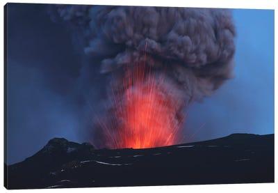 Eyjafjallajökull Eruption, Iceland Canvas Art Print