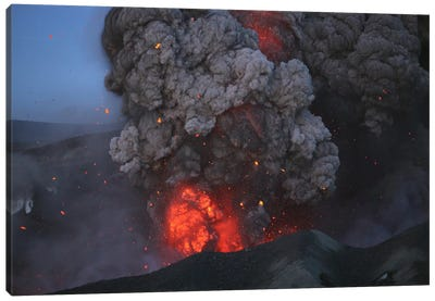 Eyjafjallajökull Eruption, Summit Crater, Iceland I Canvas Art Print