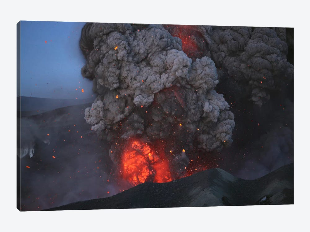 Eyjafjallajökull Eruption, Summit Crater, Iceland I by Martin Rietze 1-piece Canvas Art