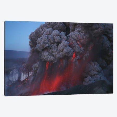 Eyjafjallajökull Eruption, Summit Crater, Iceland II Canvas Print #TRK1783} by Martin Rietze Art Print