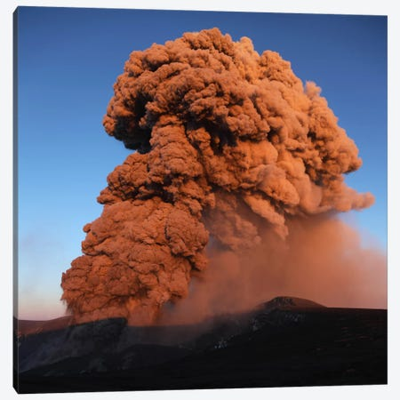 Eyjafjallajökull Eruption, Summit Crater, Iceland V Canvas Print #TRK1786} by Martin Rietze Canvas Wall Art