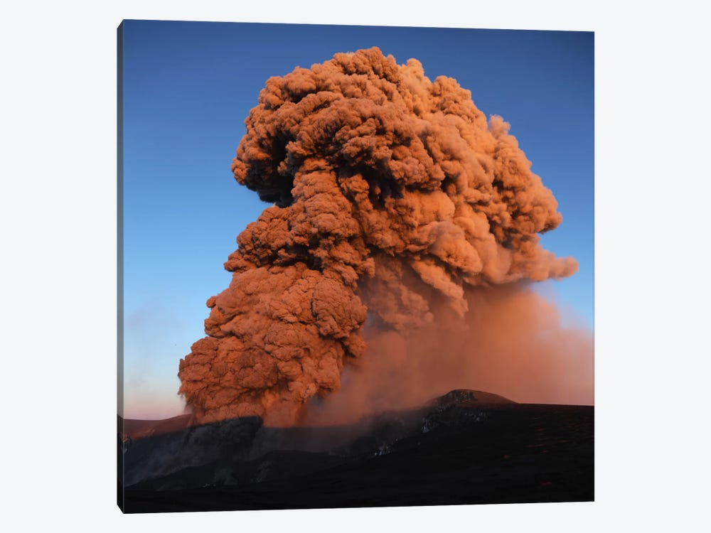 Eyjafjallajökull Eruption, Summit Crater, Iceland V by Martin Rietze 1-piece Canvas Wall Art