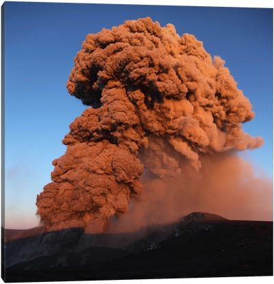 Eyjafjallajökull Eruption, Summit Crater, Iceland V Canvas Art Print
