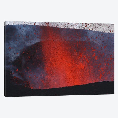Fimmvörduháls Eruption, Lava Fountains, Eyjafjallajökull, Iceland II Canvas Print #TRK1788} by Martin Rietze Art Print