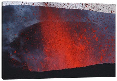 Fimmvörduháls Eruption, Lava Fountains, Eyjafjallajökull, Iceland II Canvas Art Print