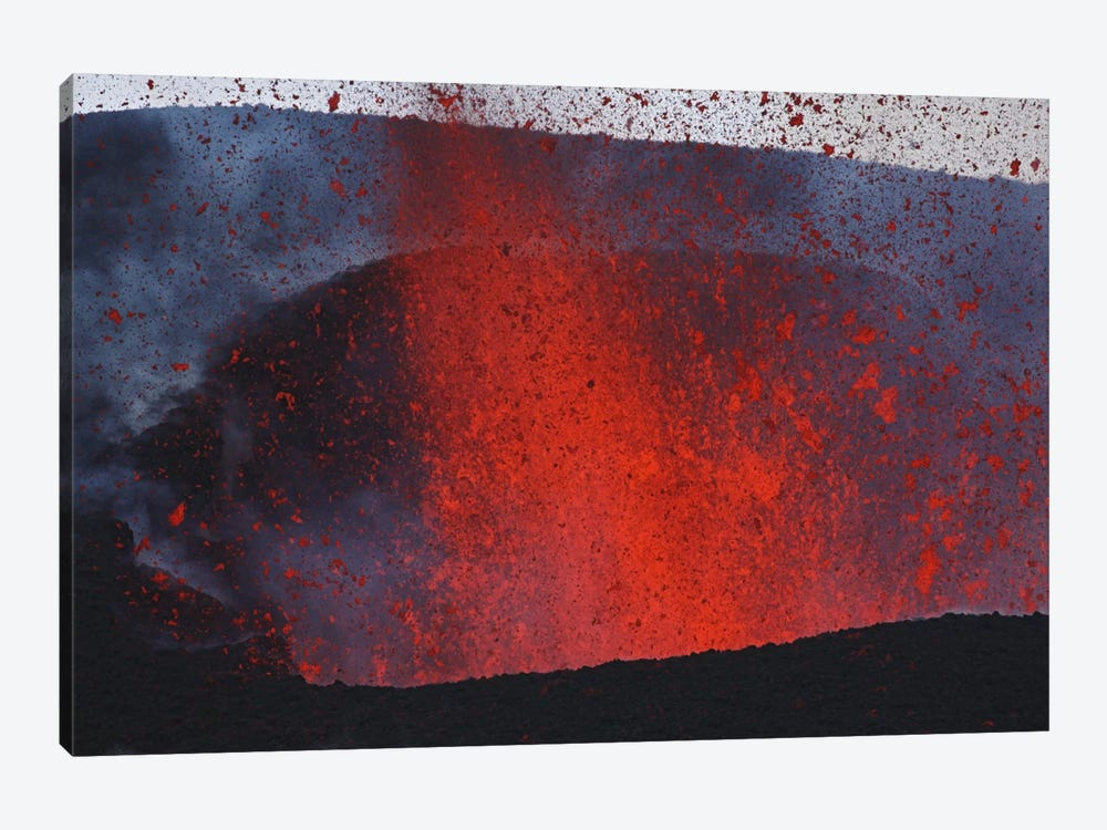 Fimmvörduháls Eruption, Lava Fountains, Eyjafjallajökull, Iceland II by Martin Rietze 1-piece Canvas Art