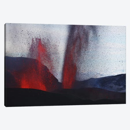 Fimmvörduháls Eruption, Lava Fountains, Eyjafjallajökull, Iceland III Canvas Print #TRK1789} by Martin Rietze Art Print