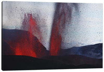 Fimmvörduháls Eruption, Lava Fountains, Eyjafjallajökull, Iceland III Canvas Art Print