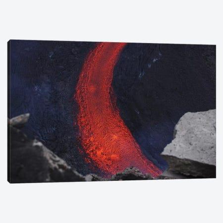 Fimmvörduháls Lava Flow, Eyjafjallajökull, Iceland II 3-Piece Canvas #TRK1791} by Martin Rietze Canvas Artwork