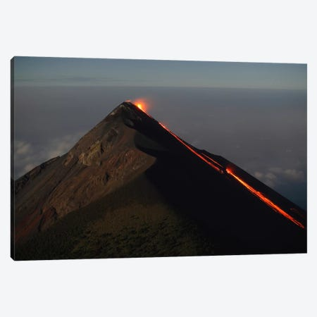 Fuego Lava Flow, Antigua, Guatemala Canvas Print #TRK1792} by Martin Rietze Canvas Wall Art