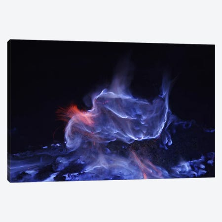 Kawah Ijen, Burning Sulfur, Java Island, Indonesia Canvas Print #TRK1793} by Martin Rietze Canvas Wall Art