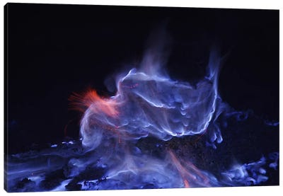 Kawah Ijen, Burning Sulfur, Java Island, Indonesia Canvas Art Print