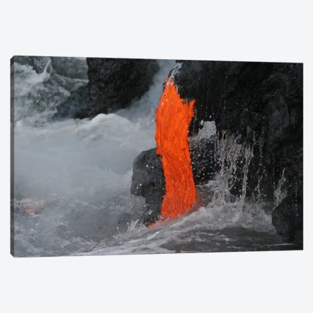 Kilauea Lava Flow Sea Entry, Big Island, Hawaii I Canvas Print #TRK1794} by Martin Rietze Canvas Art Print