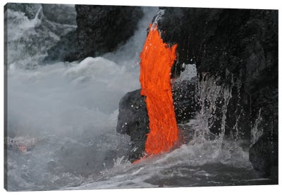 Kilauea Lava Flow Sea Entry, Big Island, Hawaii I Canvas Art Print