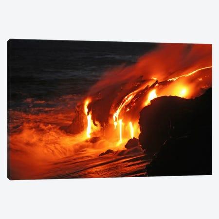Kilauea Lava Flow Sea Entry, Big Island, Hawaii III Canvas Print #TRK1796} by Martin Rietze Canvas Art Print