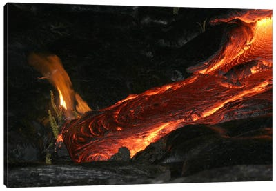 Kilauea Pahoehoe Lava Flow, Big Island, Hawaii I Canvas Art Print
