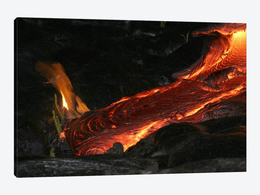 Kilauea Pahoehoe Lava Flow, Big Island, Hawaii I by Martin Rietze 1-piece Canvas Artwork