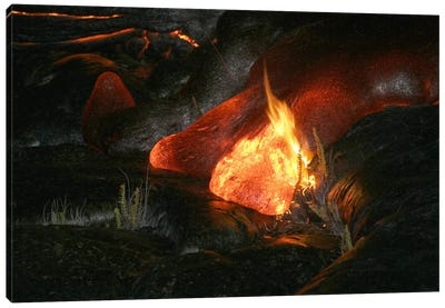 Kilauea Pahoehoe Lava Flow, Big Island, Hawaii II Canvas Art Print