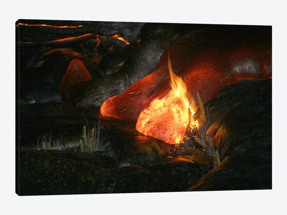 Kilauea Pahoehoe Lava Flow, Big Island, Hawaii II by Martin Rietze 1-piece Art Print