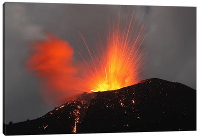 Krakatau Eruption, Sunda Strait, Indonesia I Canvas Art Print