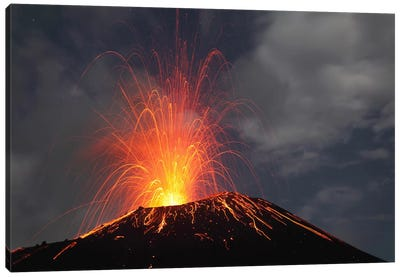 Krakatau Eruption, Sunda Strait, Indonesia II Canvas Art Print