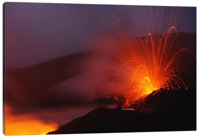 Mount Etna Eruption, Sicily, Italy Canvas Art Print