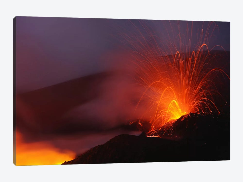 Mount Etna Eruption, Sicily, Italy by Martin Rietze 1-piece Canvas Artwork