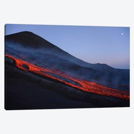 Mount Etna Lava Flow In Evening Dawn, Sicily, Italy Canvas Print #TRK1804} by Martin Rietze Canvas Print