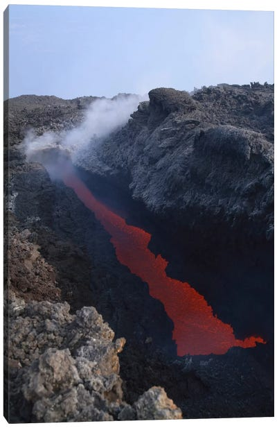 Mount Etna Open Tube Lava Flow, Sicily, Italy Canvas Art Print
