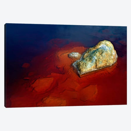 Papandayan Acid Lake, Java Island, Indonesia Canvas Print #TRK1810} by Martin Rietze Art Print