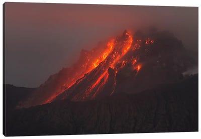 Soufriere Hills Eruption, Montserrat Island, Caribbean I Canvas Art Print