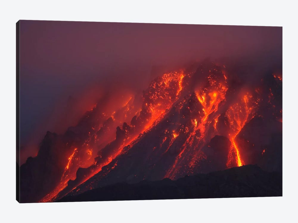 Soufriere Hills Eruption, Montserrat Island, Caribbean II by Martin Rietze 1-piece Canvas Wall Art