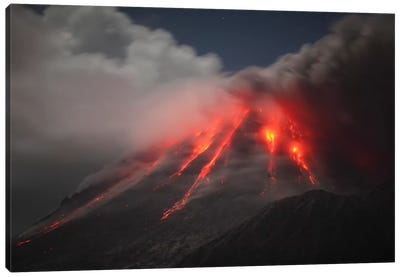 Soufriere Hills Eruption, Montserrat Island, Caribbean III Canvas Art Print