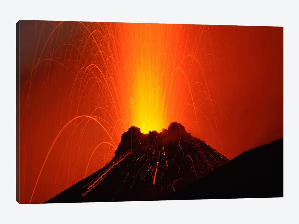 Stromboli Eruption, Aeolian Islands, North Of Sicily, Italy I by Martin Rietze 1-piece Canvas Wall Art