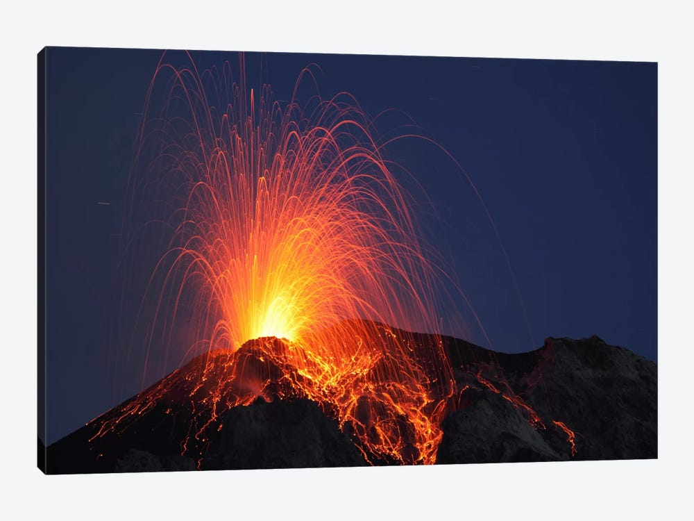 Stromboli Eruption, Aeolian Islands, North Of Sicily, Italy II by Martin Rietze 1-piece Art Print