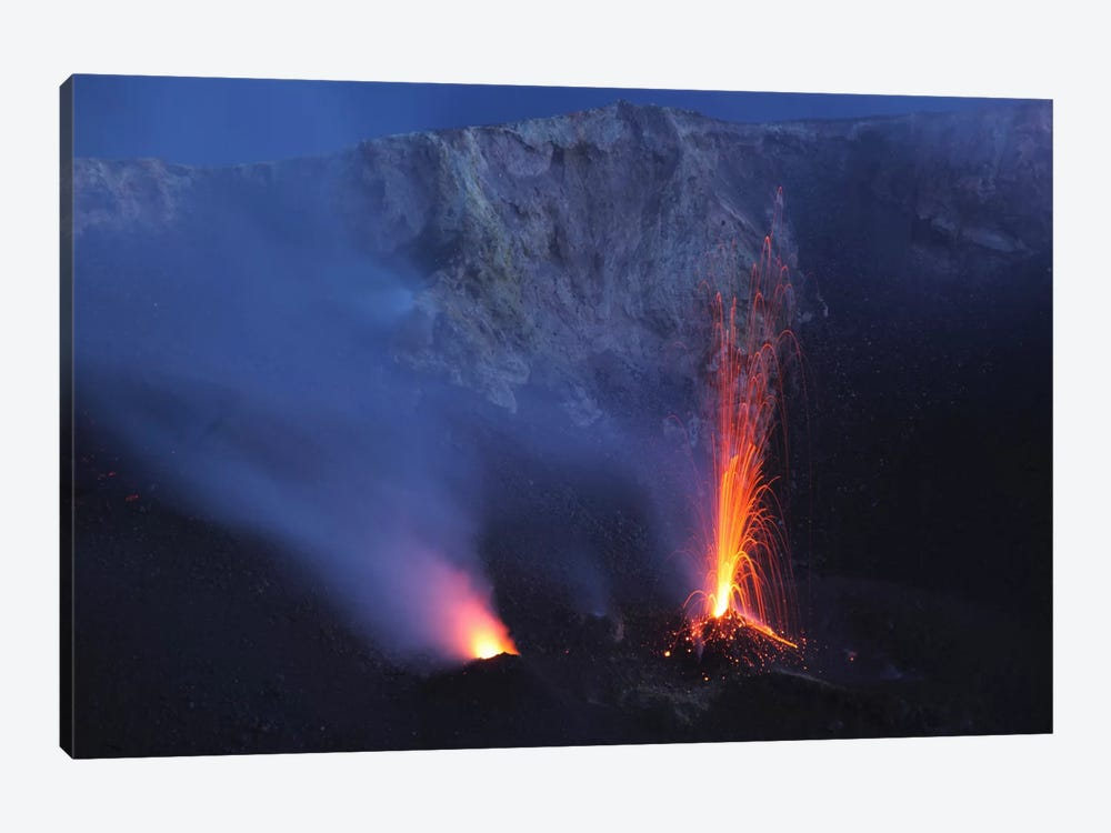 Stromboli Eruption, Aeolian Islands, North Of Sicily, Italy III by Martin Rietze 1-piece Canvas Art