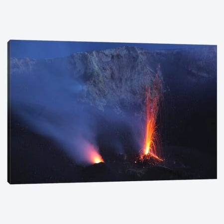 Stromboli Eruption, Aeolian Islands, North Of Sicily, Italy III Canvas Print #TRK1824} by Martin Rietze Canvas Art Print