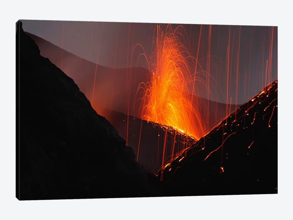 Stromboli Eruption, Aeolian Islands, North Of Sicily, Italy IV by Martin Rietze 1-piece Art Print