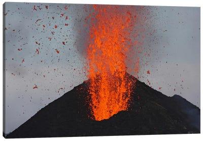 Stromboli Eruption, Aeolian Islands, North Of Sicily, Italy V Canvas Art Print