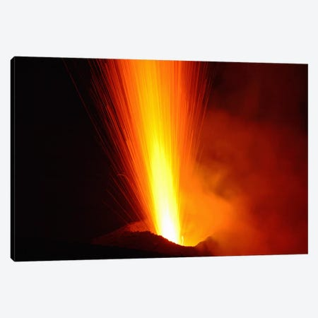 Stromboli Eruption, Aeolian Islands, North Of Sicily, Italy VI Canvas Print #TRK1827} by Martin Rietze Canvas Art Print