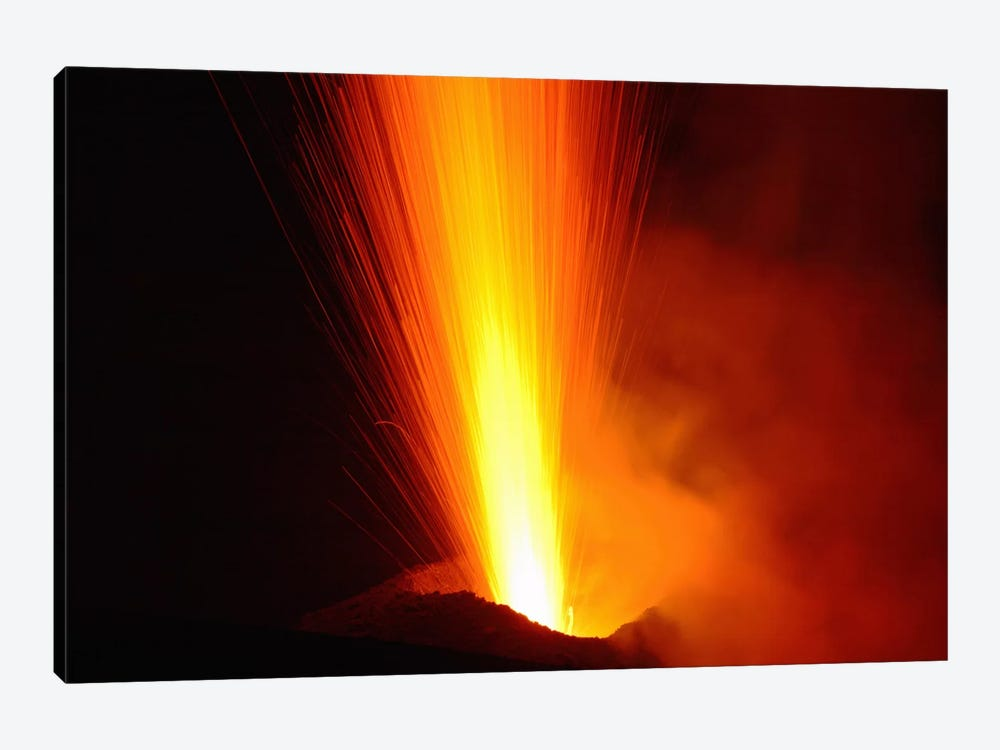 Stromboli Eruption, Aeolian Islands, North Of Sicily, Italy VI by Martin Rietze 1-piece Canvas Print