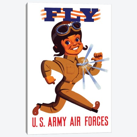 WWII Poster US Army Air Forces Canvas Print #TRK182} by John Parrot Canvas Art