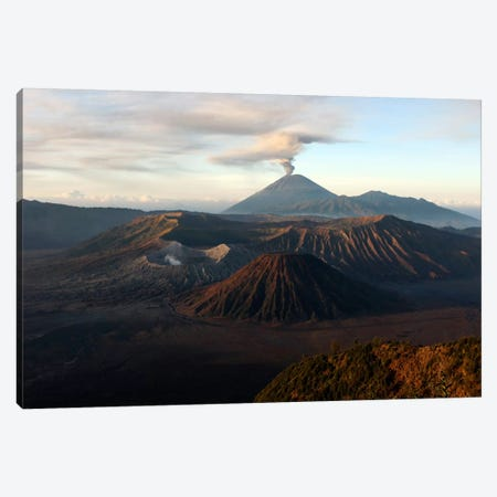 Tengger Caldera With Erupting Mount Semeru, Java Island, Indonesia Canvas Print #TRK1831} by Martin Rietze Art Print