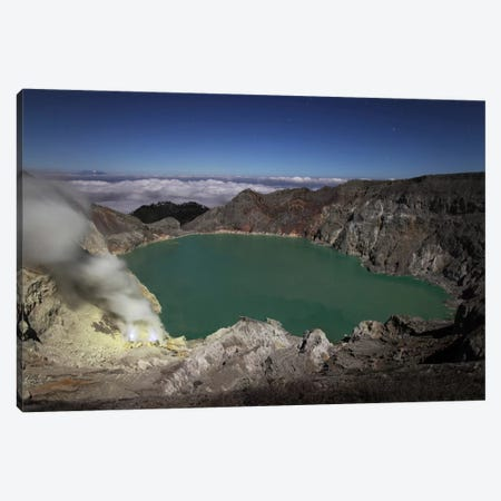 Acidic Crater Lake Of Kawah Ijen Volcano, Java, Indonesia Canvas Print #TRK1837} by Richard Roscoe Canvas Art