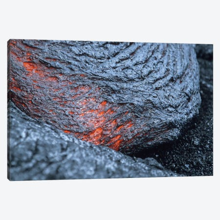 Advancing Lava Toe In Lava Flow From Kilauea Volcano, Big Island, Hawaii Canvas Print #TRK1838} by Richard Roscoe Art Print