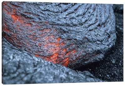 Advancing Lava Toe In Lava Flow From Kilauea Volcano, Big Island, Hawaii Canvas Art Print