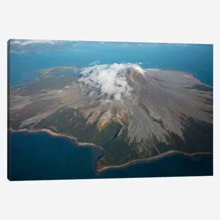 Aerial Image Of Mount St. Augustine Volcano, Cook Inlet, Alaska II Canvas Print #TRK1840} by Richard Roscoe Canvas Wall Art