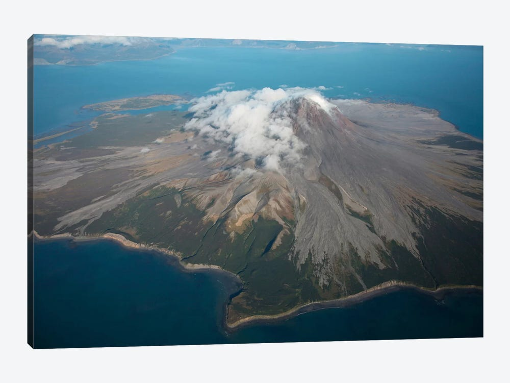 Aerial Image Of Mount St. Augustine Volcano, Cook Inlet, Alaska II by Richard Roscoe 1-piece Canvas Art